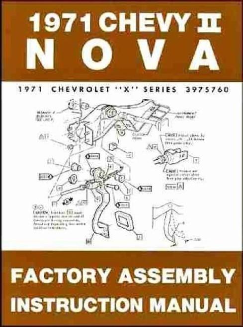 71 1971 Chevy Nova Electrical Wiring Diagram Manual