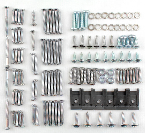 55 1955 Chevy 4 DOOR SEDAN Window Interior Garnish Molding Screw Kit
