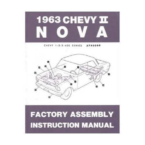 63 1963 CHEVY NOVA ELECTRICAL WIRING DIAGRAM MANUAL - I-5 ...