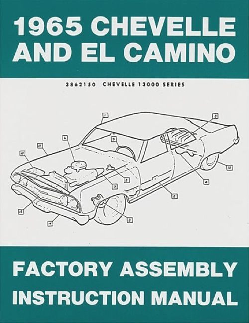 65 1965 Chevelle El Camino Factory Assembly Manual Book