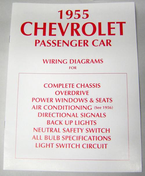 55 1955 Chevy 150 210 Bel Air Electrical Wiring Diagram Manual