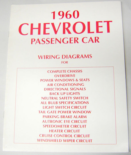 60 1960 Chevy Electrical Wiring Diagram Manual