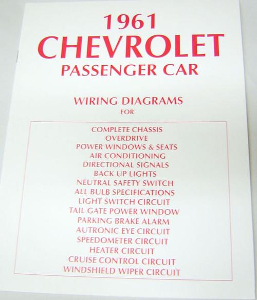 61 Chevy Impala Electrical Wiring Diagram Manual 1961 - I ...