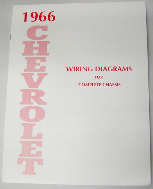 66 1966 Chevy Impala Electrical Wiring Diagram Manual - I ...