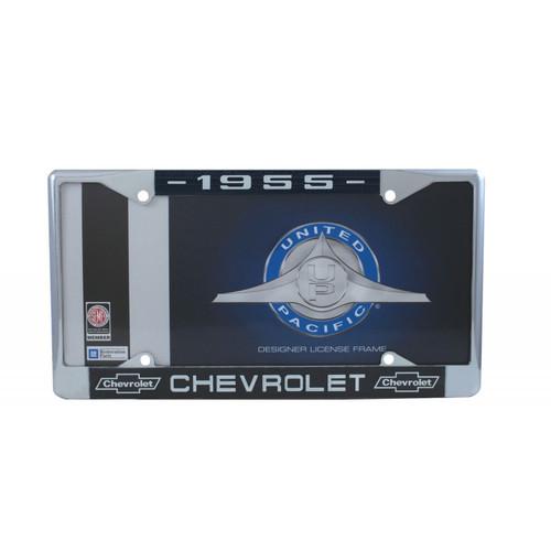 55 1955 CHEVY CHEVROLET CAR & TRUCK CHROME LICENSE PLATE FRAME