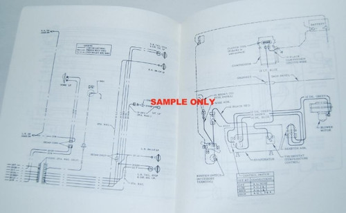 58 Chevy Impala Electrical Wiring Diagram Manual 1958 on