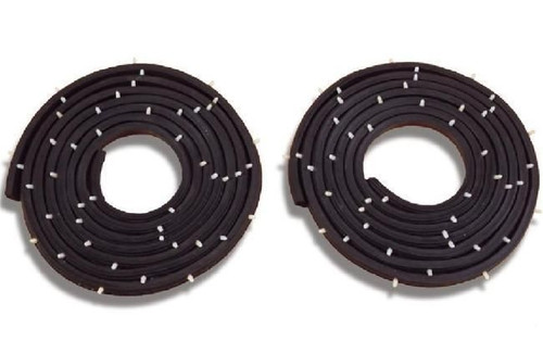 55 56 57 Chevy 4 DOOR Sedan & Station Wagon REAR Door Rubber Weatherstrip Seals