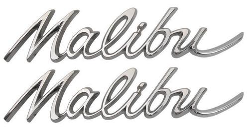 64 1964 Chevelle Rear Quarter Malibu Trim Emblems Chrome