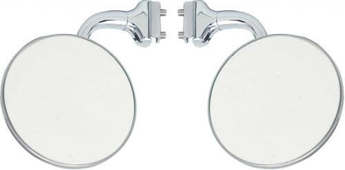 """3/"""" Curved Arm Peep Side Door Mirror Outside Rearview Hot Street Rat Rod Pair"""