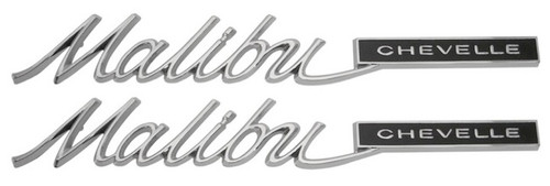65 1965 Chevelle Rear Quarter Panel Malibu Script Emblems
