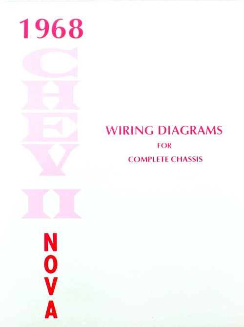 68 1968 Chevy Nova Electrical Wiring Diagram Manual - I-5 ...