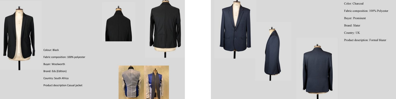 LGFG men's blazers for wholesale distribution
