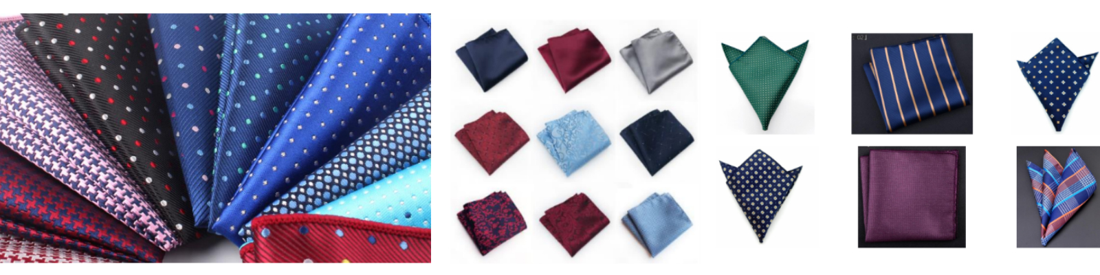 LGFG men's silk packet squares for wholesale distribution