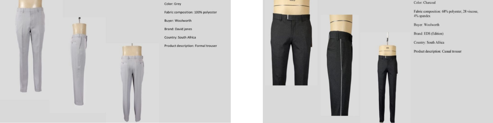LGFG men's luxury slacks for wholesale distribution
