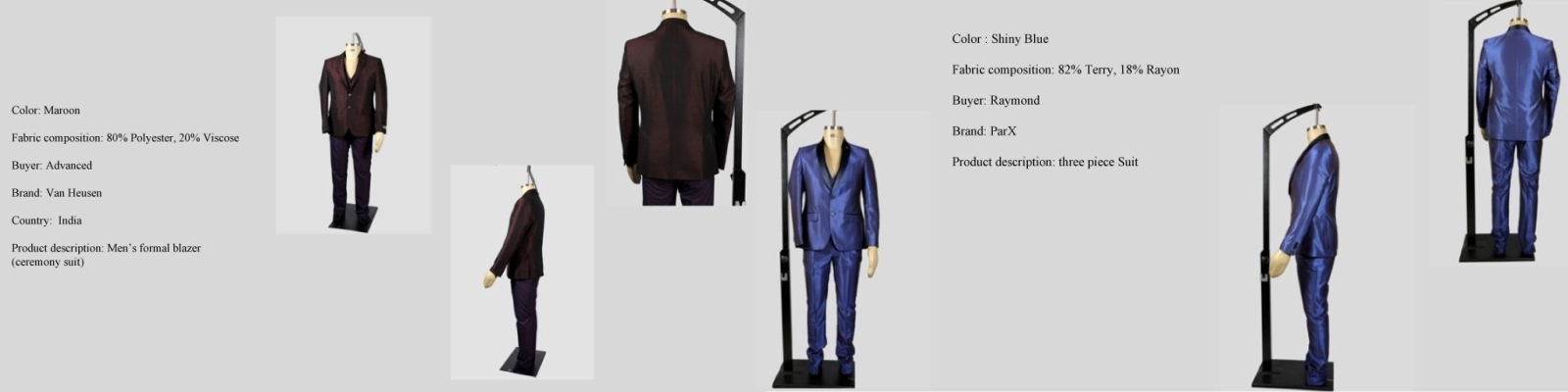 LGFG men's luxury 2-piece and 3-piece suits for wholesale distribution