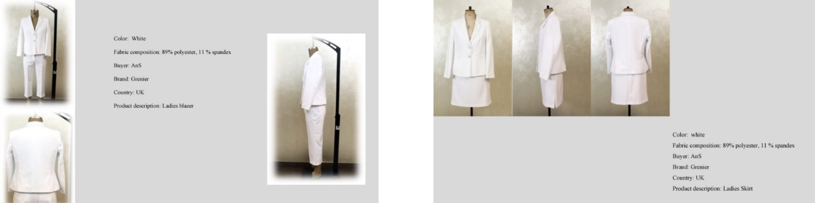 LGFG women's 2-piece suits for wholesale distribution