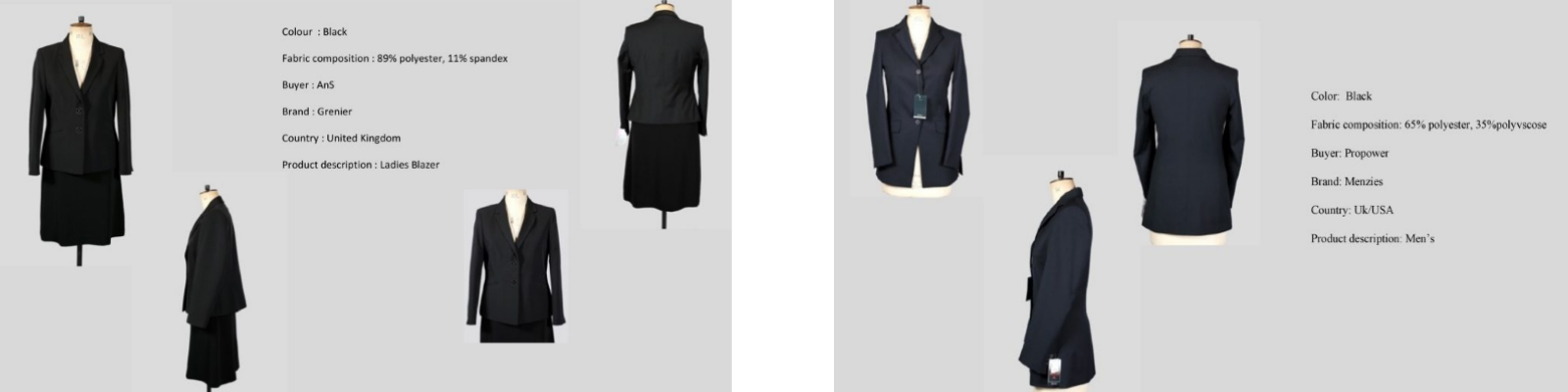 LGFG women's luxury blazers, jackets and coats for wholesale distribution
