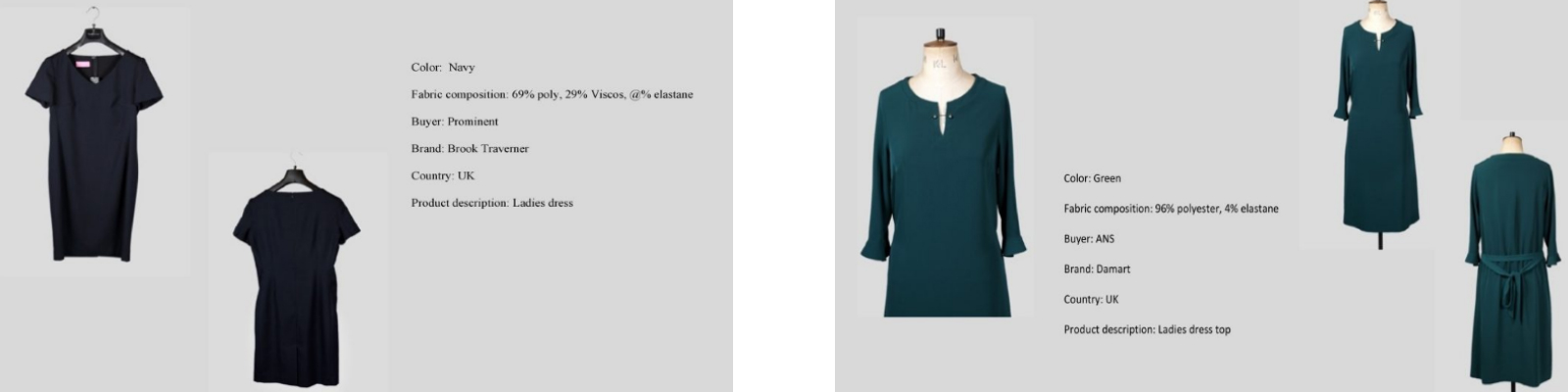 LGFG women's luxury dresses and skirts for wholesale distribution