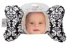 Black Dandy Damask Baby Head Pillow