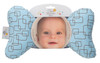 Blue Mod Baby Head Pillow