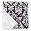 "Black Dandy Damask Large Baby Blanket (27"" x 29"")"
