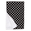 "Black Dot XL Baby Blanket (42"" x 32"")"