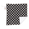 "Black Dot Mini Baby Blanket (12"" x 12"")"