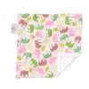 "Pink Elephant Mini Baby Blanket (12"" x 12"")"