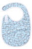 Blue Mod Square Bib Baby Elephant Ears