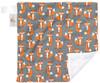 "Foxy Mini Baby Blanket (12"" x 12"")"