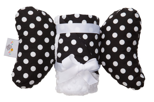 Black Dot Infant Head Support