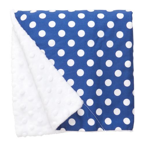 "Blue Dot Large Baby Blanket (27"" x 29"")"