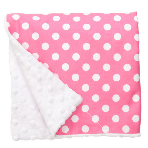 "Pink Dot Large Baby Blanket (27"" x 29"")"