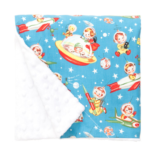 "Retro Rockets Large Baby Blanket (27"" x 29"")"