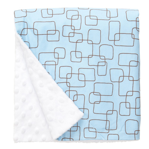 "Blue Mod Large Baby Blanket (27"" x 29"")"