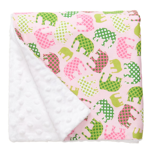"Pink Elephant Large Blanket (27"" x 29"")"