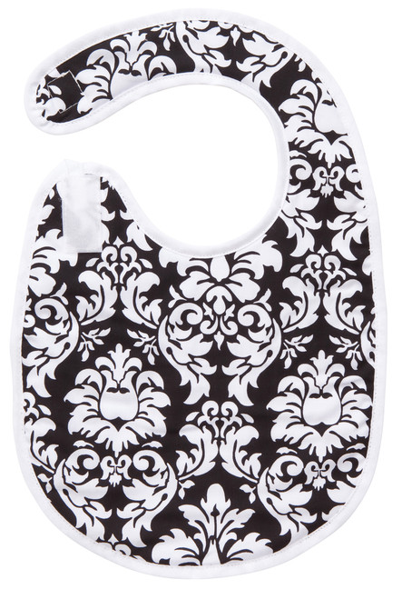 Black Dandy Damask Bib