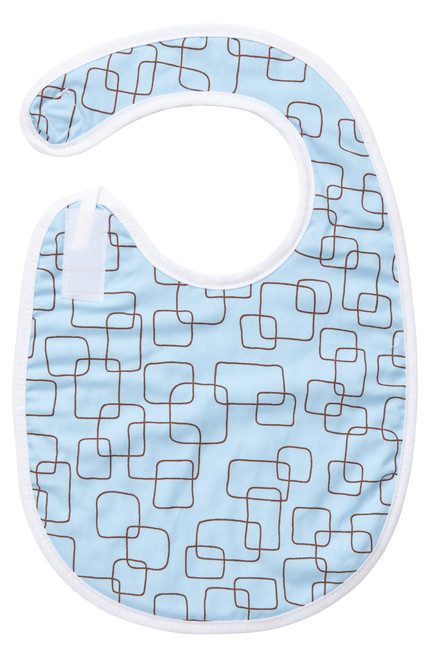 Blue Mod Square Bib Baby Elephant Ears