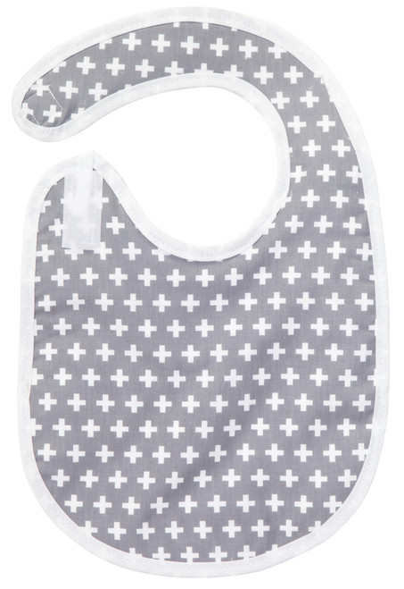 Grey Cross Bib Baby Elephant Ears