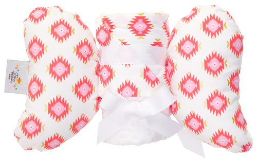 Glitzy Diamond Gift Set with Baby Elephant Ears and Large Blanket