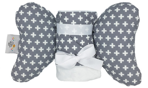 Grey Cross Gift Set (Large Blanket + Ear)