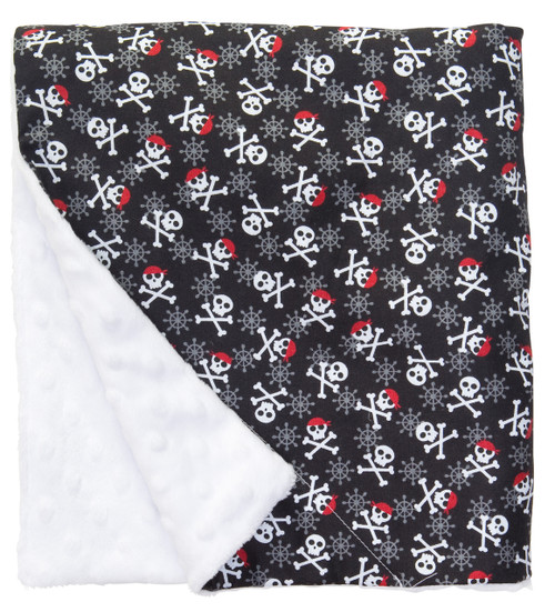 "Crossbones Large Baby Blanket (27"" x 29"")"