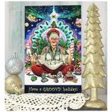Bohemian Mrs. Claus Greeting Card
