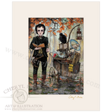 Edgar Allan Poe Goes to a Magical School with Lovely Mat
