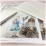 Alice Goes to a Magical School Stationery Paper Set