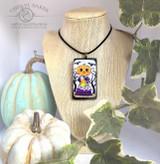 Batty Pumpkin Necklace