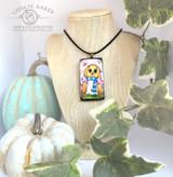 Pumpkin Head Ghostie Necklace
