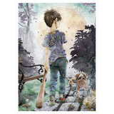 Charming Zombie Moments - Best Buds (Boy and Dog)