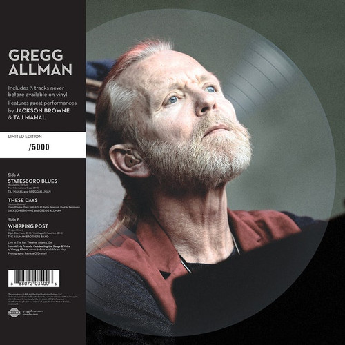 """Gregg Allman - Southern Blood - 10"""" Picture Disc"""