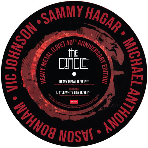 """Sammy Hagar & The Circle - Heavy Metal (Live) - 12"""" Picture Disc"""